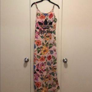 Adidas floral maxi dress - Brand new